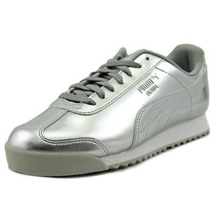Puma Roma Patent Ano Jr Youth Synthetic Silver Fashion Sneakers