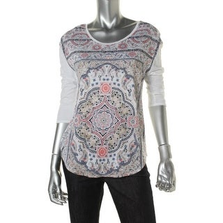 Lucky Brand Womens Cotton Pattern T-Shirt