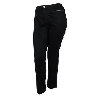 INC International Concepts Women's Lyocell Blend Skinny Leg Pants - Deep Black