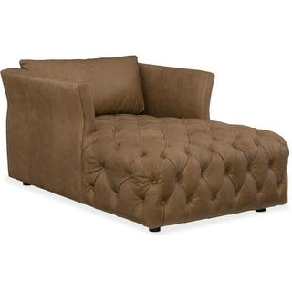 Hooker Furniture SS376-CH-084 37 Inch Wide Leather Chaise Lounger from the Olivi
