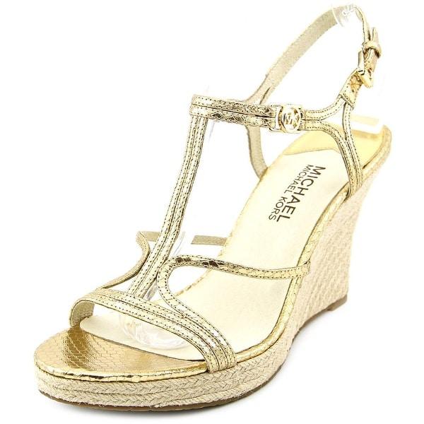 73f6c3b83d3 Shop Michael Michael Kors Cicely Wedge Pale Gold Sandals - Free ...