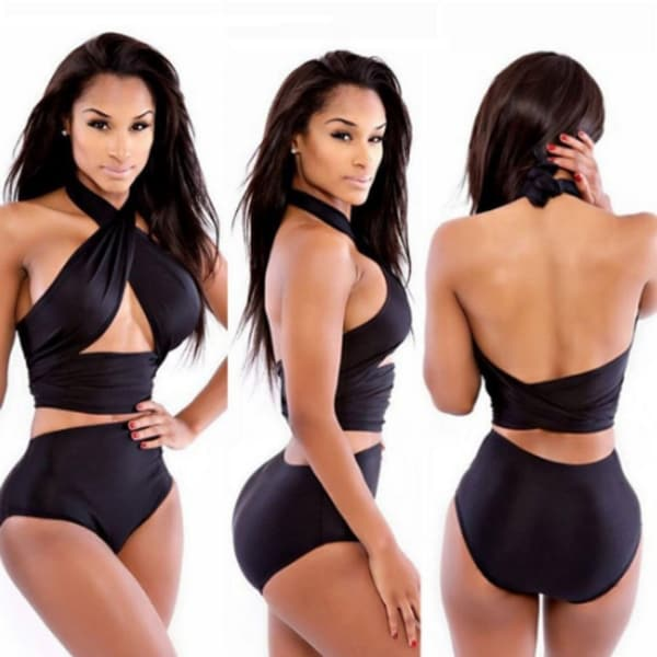 Women's High Waist Support Bikini Set Swimsuit. Opens flyout.