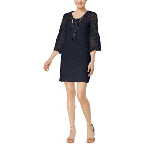 Kensie Womens Femme Lace A-Line Dress