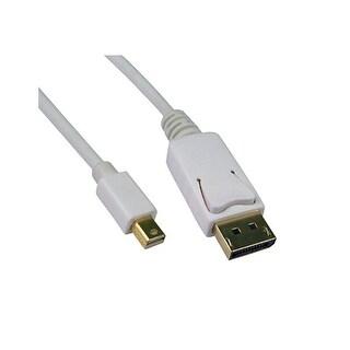 Offex Mini DisplayPort 1.2 Video Cable, Mini DisplayPort Male to DisplayPort Male, 10 foot