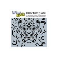 The Crafters Workshop Stencil 6x6 Mexican Skull