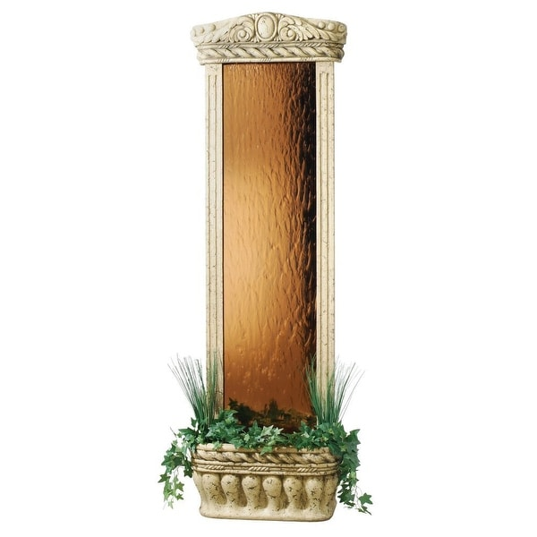 "Watergarden Fountain with Bronze Mirror, 72""H X 23""W X 11""D"