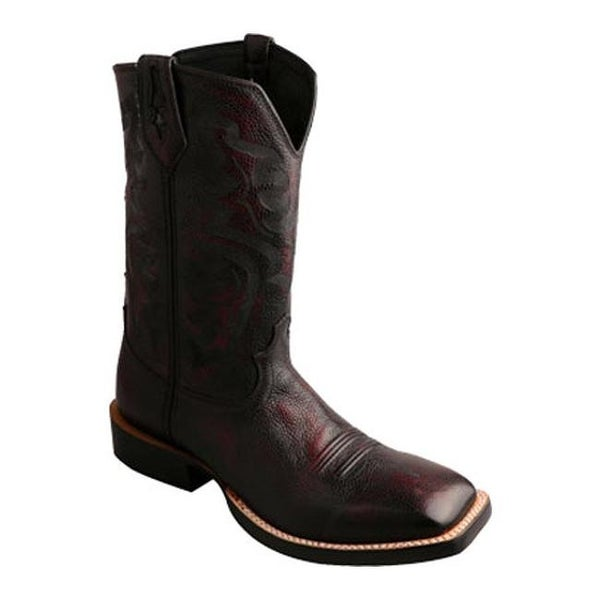 2d47314cdf0 Twisted X Boots Men's MRR0010 Red River Burgandy Brush Off/Brush Off