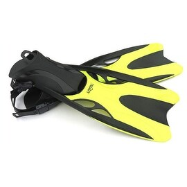 Dive Snorkeling Swimming Scuba Fins Split Fins M Yellow
