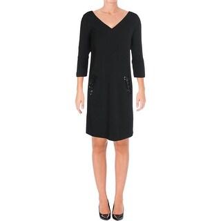 Laurel Womens Wear to Work Dress Beaded Detail 3/4 Sleeves - 12