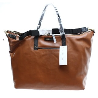Kenneth Cole Reaction NEW Earth Brown Black Bondi Girl Convertible Tote