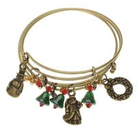 Nostalgic Christmas Bangle Bracelet Set - Exclusive Beadaholique Jewelry Kit