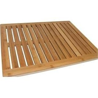 Zora ZR24BFL Bath Mat 100 Percent Bamboo - Brown
