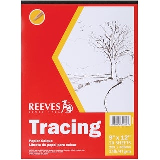 "Reeves Tracing Paper Pad 9""X12""-50 Sheets"