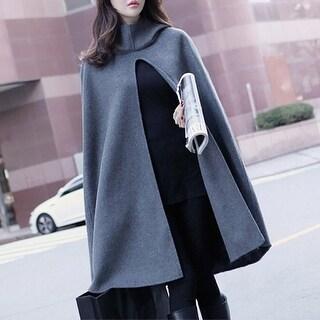 Link to Student Woolen Cloak Coat Female New Shawl Cloak Hooded Woolen Coat Similar Items in Women's Outerwear