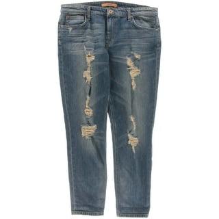 Joe's Jeans Womens Nonie Distressed Mid-Rise Boyfriend Jeans - 31
