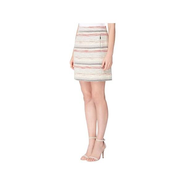 cd526f859e3 Shop Tahari ASL Womens A-Line Skirt Tweed Zip Pocket - 16 - Free ...
