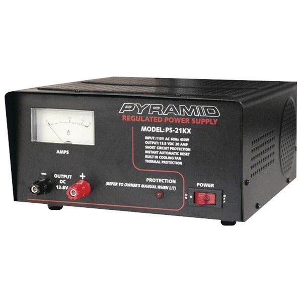 PYRAMID PS21KX 18-Amp Power Supply with Built-in Cooling Fan