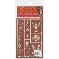 """Over 'N' Over Reusable Stencils 5""""X8""""-Under The Sea"""