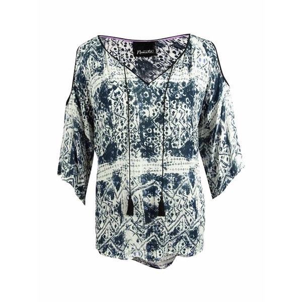 7c95497d2bd Shop Nanette Lepore Womens Plus Size Cold-Shoulder Peasant Blouse ...