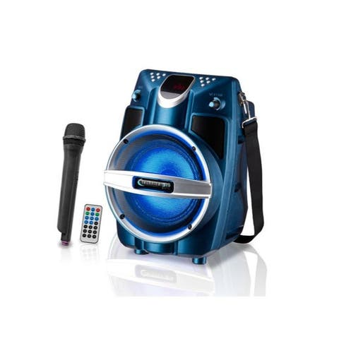 """Technical Pro 6.5"""" Powered Bluetooth System with Mic & LED Woofer"""