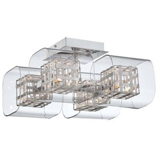 Kovacs P802-077 4 Light Semi-Flush Ceiling Fixture from the Jewel Box Collection