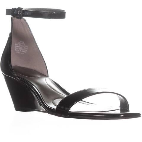 Bandolino Omira Wedge Ankle Strap Sandals, Black