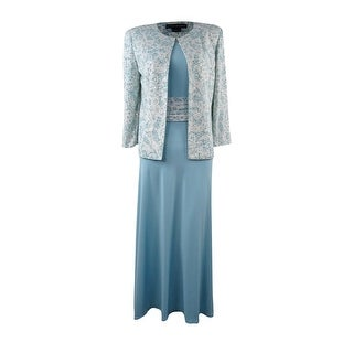 Jessica Howard Women's Embellished 2PC Jacket & Dress Set - Sea