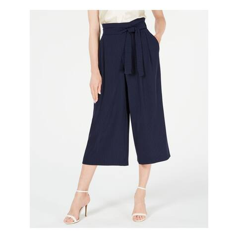 ANNE KLEIN Womens Navy Polka Dot Wear To Work Pants Size XXL