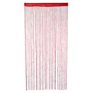Window Door Polyester Beads Pendant Decor String Hangings Curtain Screen Red