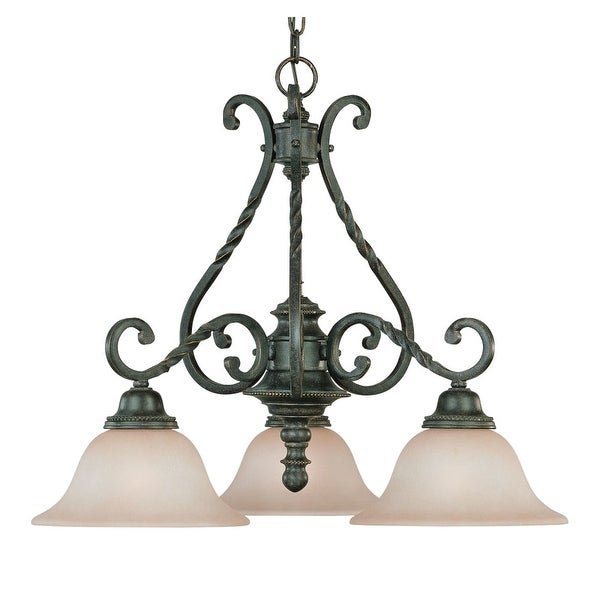 Jeremiah Lighting 22433 Sutherland 3-Light Mid-Sized Chandelier - english toffee