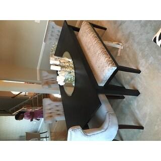 Catherine Grey Chevron Dining Bench by iNSPIRE Q Bold