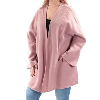 ALFANI $180 Womens New 1078 Pink Dolman Sleeve Open Cardigan Sweater L B+B