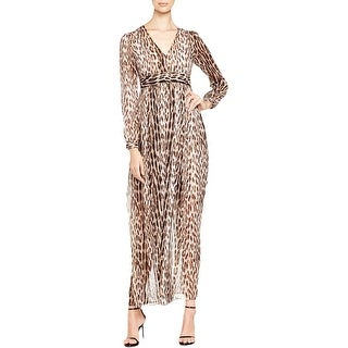 MICHAEL Michael Kors Womens Maxi Dress Sheer Metallic