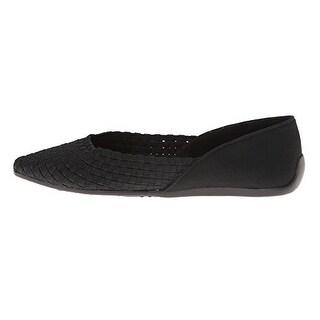 Tahari Women's Kara Almond Toe Woven Flats