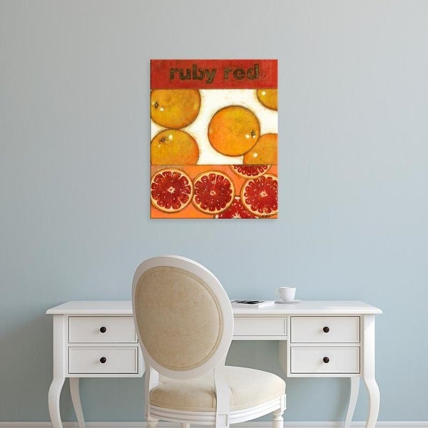 Easy Art Prints Cat_preview's 'Ruby Red' Premium Canvas Art