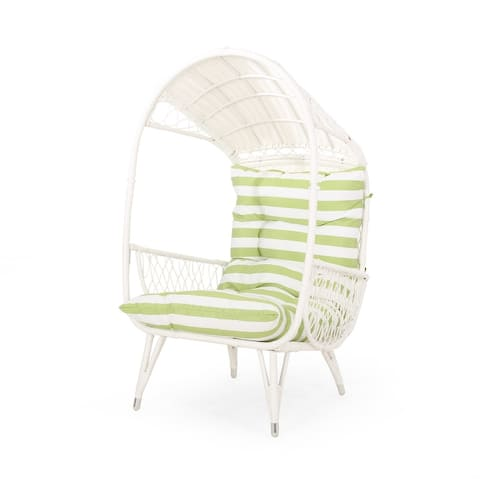 Malia Outdoor Cushioned Wicker Basket Chair by Christopher Knight Home
