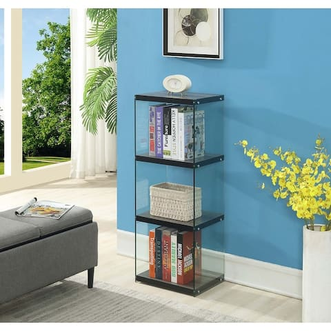 Porch & Den Urqhuart 4-tier Wood and Glass Tower Bookcase