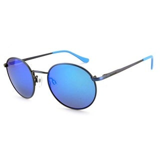 Peppers Polarized Sunglasses Lennon Antique Blue with Blue Mirror Lens