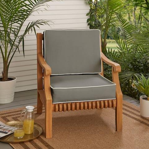 """Sunbrella Indoor/Outdoor Cushion Set, Corded - 22"""" x 22"""" x 4"""""""