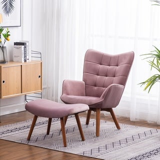 Link to Carson Carrington Aasen Contemporary Silky Velvet Tufted Accent Chair Similar Items in Living Room Chairs
