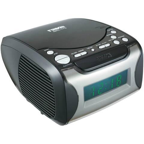 Naxa NAXNRC175B Naxa Digital Alarm Clock with Digital Tuning AM/FM Radio and CD Player