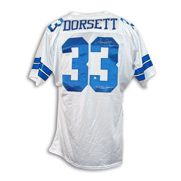 on sale 9c433 3dcd3 Tony Dorsett Dallas Cowboys Autographed White Throwback Jersey Inscribed
