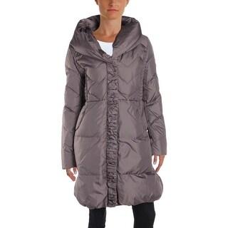 Via Spiga Womens Puffer Coat Winter Down - L