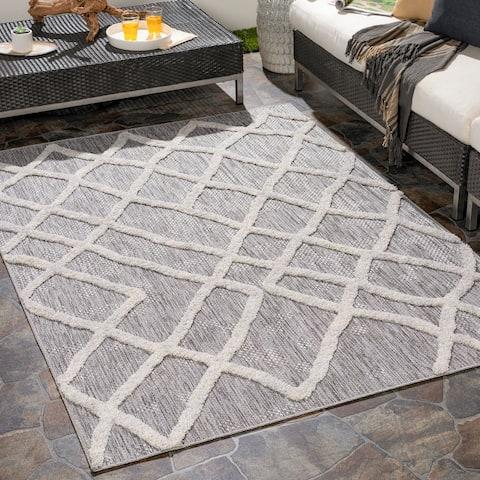 Sahar Indoor/ Outdoor Global Trellis Area Rug
