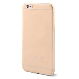 Unique Bargains Beige Clear TPU Soft Frame Case Cover Protector for Apple iPhone 6 4.7