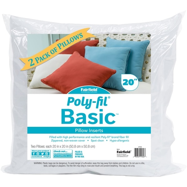 Shop Fairfield Poly Fil Basic Pillow Insert 2pkg 20x20 Fob Mi