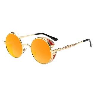 FORUU Glasses Women Men Summer Vintage Retro Round Gradient Color Unisex Sunglasses