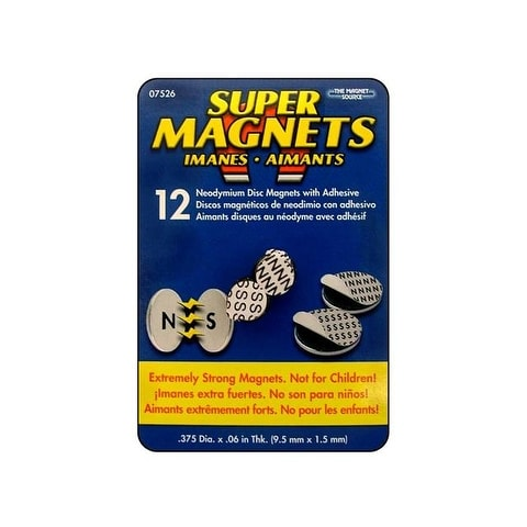 "The Magnet Source Neodymium Magnet ADisc 3/8"" 12pc"