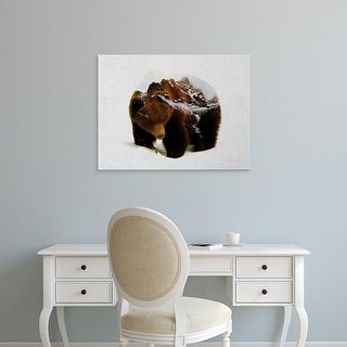 Easy Art Prints Andreas Lie's 'Bear in the Mountains' Premium Canvas Art