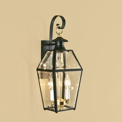 "Norwell Lighting 1066 Old Colony 2 Light 17"" Tall Outdoor Wall Sconce with Clear Glass Shade"
